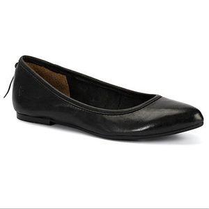 Frye Black Leather Ballet Flat
